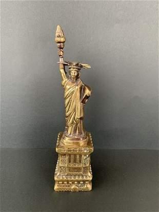 Antique Bronze Statue of Liberty Home Decor