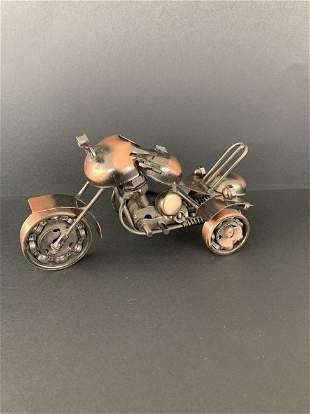 Beautiful handmade metal Harley Davidson motorcycle