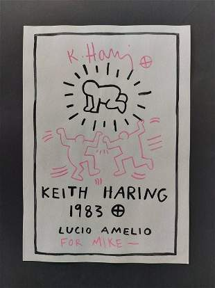 Keith Haring (In The Style of) Watercolor on paper