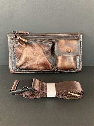 Pure leather belt bag for men