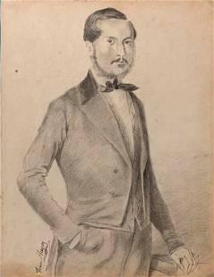 Franceso Hayez (After)Portrait of Giacomo Maria Lorenzo