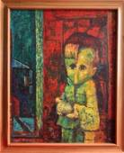 Samuel Rosenberg (After) Painting the Lamb, 1947