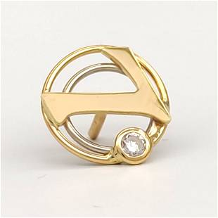 Brooch in 18 kt 750 carat yellow gold