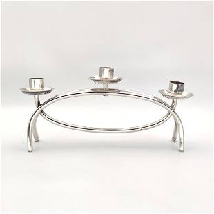 Candlestick - .925 silver - Italy