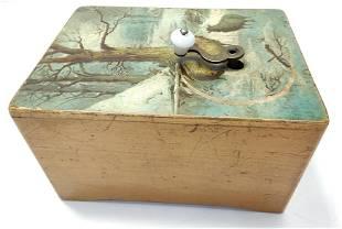 Antique Swiss German wood music box