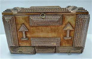 German Antique Tramp Carved box