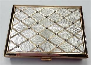 French Art Deco Mirror Powder Compact box