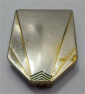 French Art Deco Houbigant France Paris Compact box