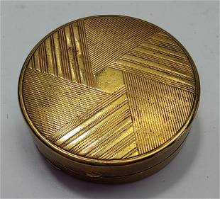 French Art Deco round Compact box