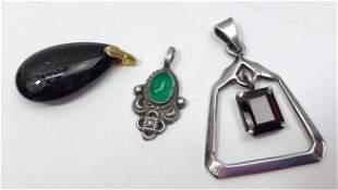 lot of 3 pendant costume jewelry