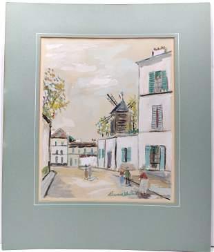 Print Maurice Utrillo (french 1883 - 1955) Rue De Paris