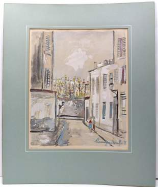 Print Maurice Utrillo (french 1883 - 1955) Moulin