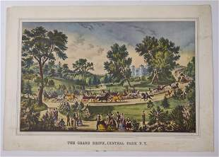 Currier & Ives, The Grand Drive Central Park N.Y. print