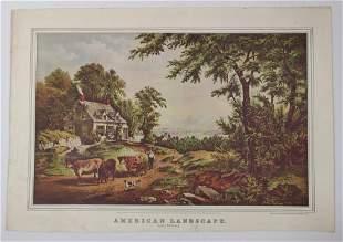 Currier & Ives, American Landscape print