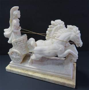 Greek Roman antique heavy statue in Vintage composite