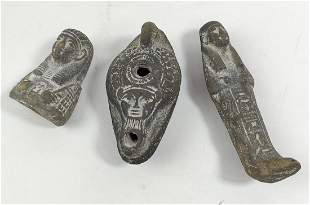"Roman Oil Lamp Pottery Terracotta, 3 1/2¨"" X 4 1/2"" X"