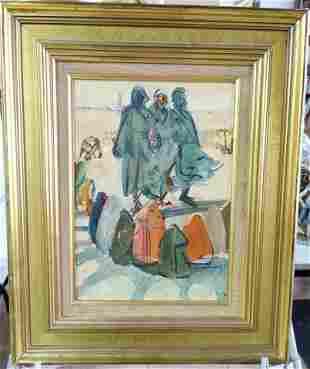 Michel Gemignani (french, born 1941) oil on board