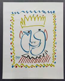 Pablo Picasso The King Print On Paper Vellum France