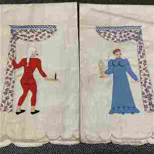 Vintage HIS and HERS Madeira Hand Towels
