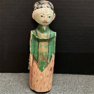 Wooden Idol Doll from the Island of Java