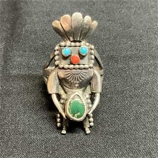 Old Pawn Navajo Silver Ring VIntage