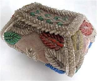 Native American Beaded Needle/Pin Cushion Box