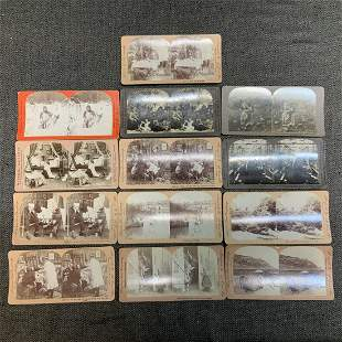 1900s 13 Misc Antique Stereograph/Stereo Viewer Cards