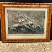 CURRIER & IVES - An American Clipper Ship