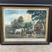 CURRIER & IVES - American Farm Scenes No.3 Fall