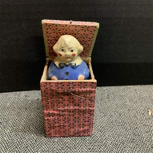 Vintage Fat Boy Jack In The Box Toy Made In Germany