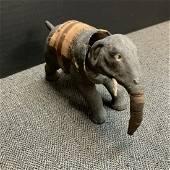 Vintage Papier-mâché Elephant Bobblehead Toy