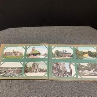Antique Postcard Lot In Original Album