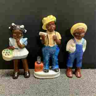 Black Americana Figurines Made In Occupied Japan