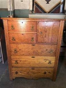 5 Drawer Oak Dresser with door