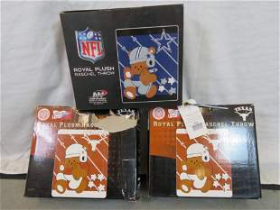 3 BRAND NEW PLUSH BLANKETS IN BOXES