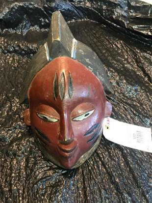 Awesome looking old African Ivory Coast Mask Oddity