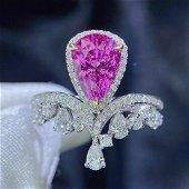 18K White Gold 2.92 CTW Sapphire & Diamond Ring