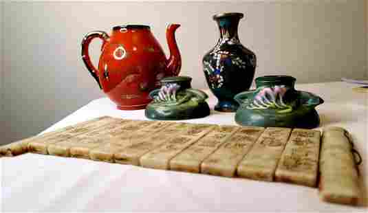 Chinese jade scribe,ceramics and others