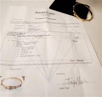 18kt gold gucci bracelet