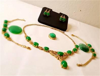 Estate vintage jade jewelry