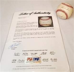 Psa certified hall of famer signed baseball
