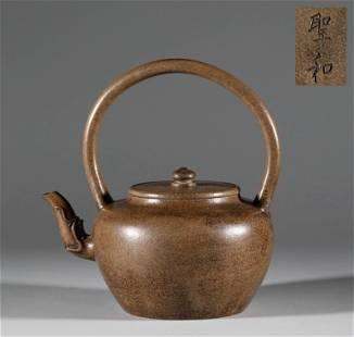 In the Qing Dynasty, Zisha tiaojiang teapot