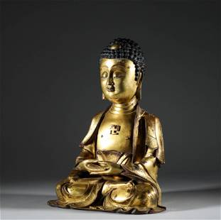In the Qing Dynasty, the statue of Sakyamuni Buddha was