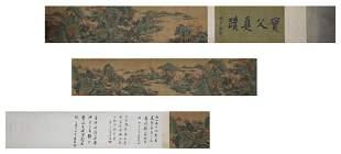 Qiu Ying, ink painting, silk scroll