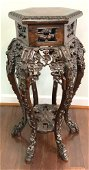 Antique Carved Chinese Fern Stand