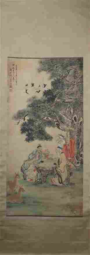 Painting by Wang Gong 清 汪恭 福