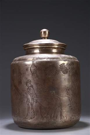 Old Collection.Silver Tea Canister