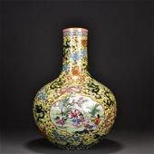 Enamel Globular Vase