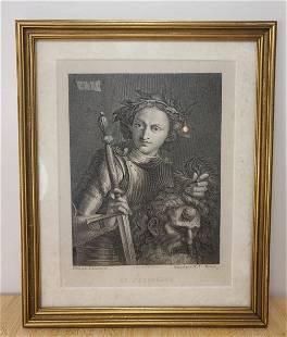 "Antique Engraving ""Le Pordenone"""