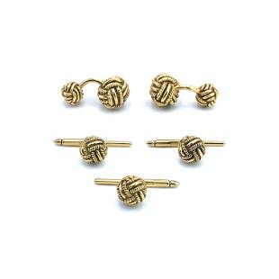 T&Co. Schlumberger 18k Gold Rope Knot Dress Set